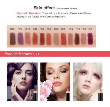 1PC 12-color NICEFACE Nude Lipstick Lasting Non-stick Cup Moisturizing Lip Gloss Non-fading Matte Lip Liner
