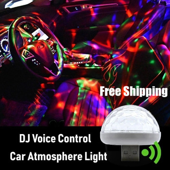 NEW Multi Color USB LED Car Interior Lighting Kit Atmosphere Light Neon Colorful Lamps DJ home RGB Mini Colorful Music light image