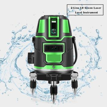 2 Lines Self-leveling Green Laser Level 360 Horizontal Vertical Instruments Laser Level Detector For Construction Tool