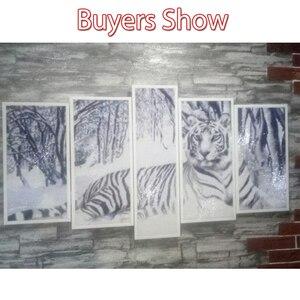 Image 2 - Huacan 5D DIY Multi picture Diamond Painting Tiger Full Square Diamond Mosaic Animal Cross Stitch Embroidery Rhinestones Gift