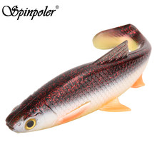 Spinpoler The perfect 3D Soft Bait Fishing Fish 5g 10g 20g 40g Silicone plastic Swimbait Shad Crankbait Use For Rig Fishing