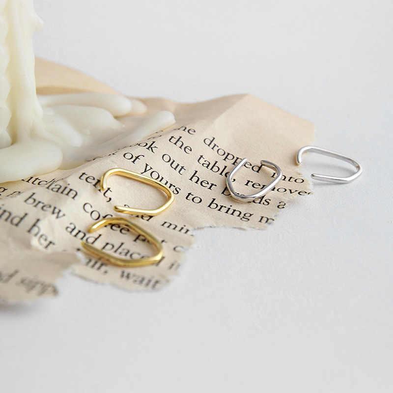 Pinza coreana en Pendientes aretes De oro Pendientes para Mujer Plata 925 Pendientes Plata De Ley 925 joyería fina para Mujer