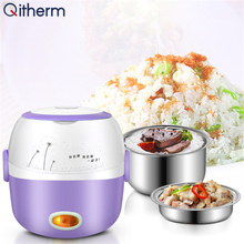 Lunch-Box Cooking-Container Rice-Cooker Food-Steamer Stainless-Steel Electric Inner Heating