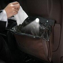 LED רכב ארגונית מושב אחורי שקית אחסון מגנטי אוטומטי אשפה מחזיק עבור קדילאק XTS SRX ATS CTS/רנו Koleos Fluenec latitude