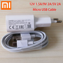 Original For XIAOMI USB Fast Charger Adapter 9V/2A EU Micro USB Data Cable For Redmi 4 4X 4A 7 Note 4 4X 5 5A 6 6A 7A S2 S1(China)