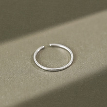 Minimalist real 925 sterling silver rings for women fine jewelry, fashion adjustable female ring wedding finger accessories slovecabin real 925 sterling silver link chain lock finger rings for women vintage napkin wedding rings for women bijoux female