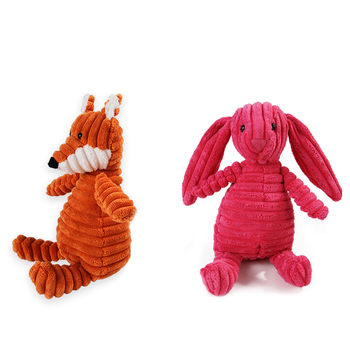 Corduroy Dog Toys for Small Large Dogs Animal Shape Plush Pet Puppy Squeaky Chew Bite Resistant Toy Pets Accessories Supplies 3