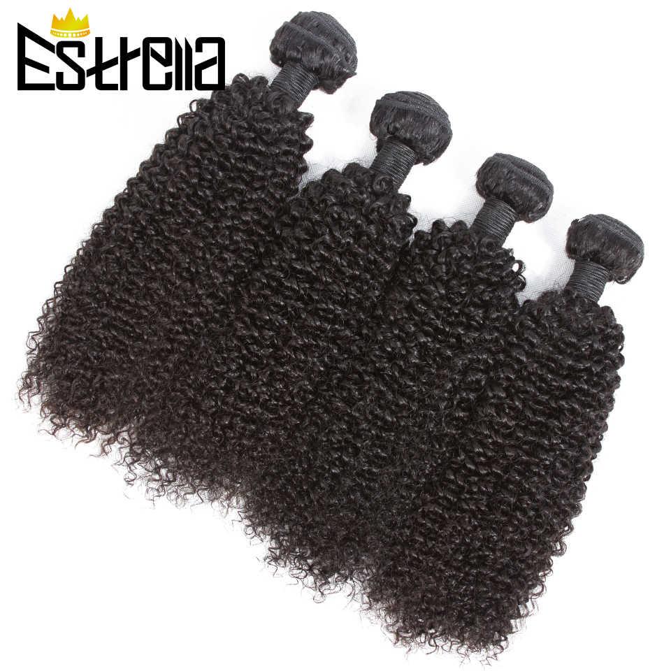 """Brazylijski perwersyjne kręcone ludzkie włosy wiązki 1/3/4 sztuk Remy ludzki włos włosy wyplata perwersyjne kręcone wiązki włosów naturalny kolor 8 """"-28"""" przedłużanie włosów"""