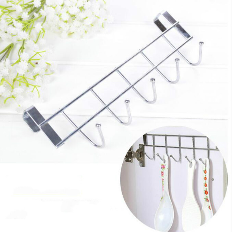 5 Hook Bold Stainless Steel Cabinet Back Hook Household Storage Doors And Windows Kitchen Towel Hanger Hook LB10181