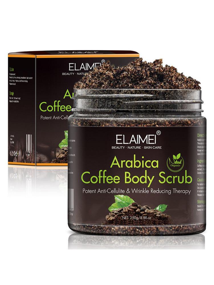 250g Coffee Scrub Exfoliators Exfoliation Remove Varicose Veins Cellulite Stretch Marks Scrub Cream For Body Face