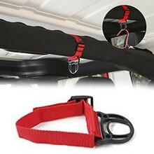 1pc ABS Coat Hook Red + Black Car Unlimited Roll Bar Clothes Hanger For Wrangler JK JL 2007-2018