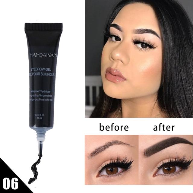 Natural 6 Colors Liquid Dyeing Eyebrow Cream Set Waterproof Durable Brown Tint Eyebrow Henna Mascara Eyebrows Paint Makeup 2