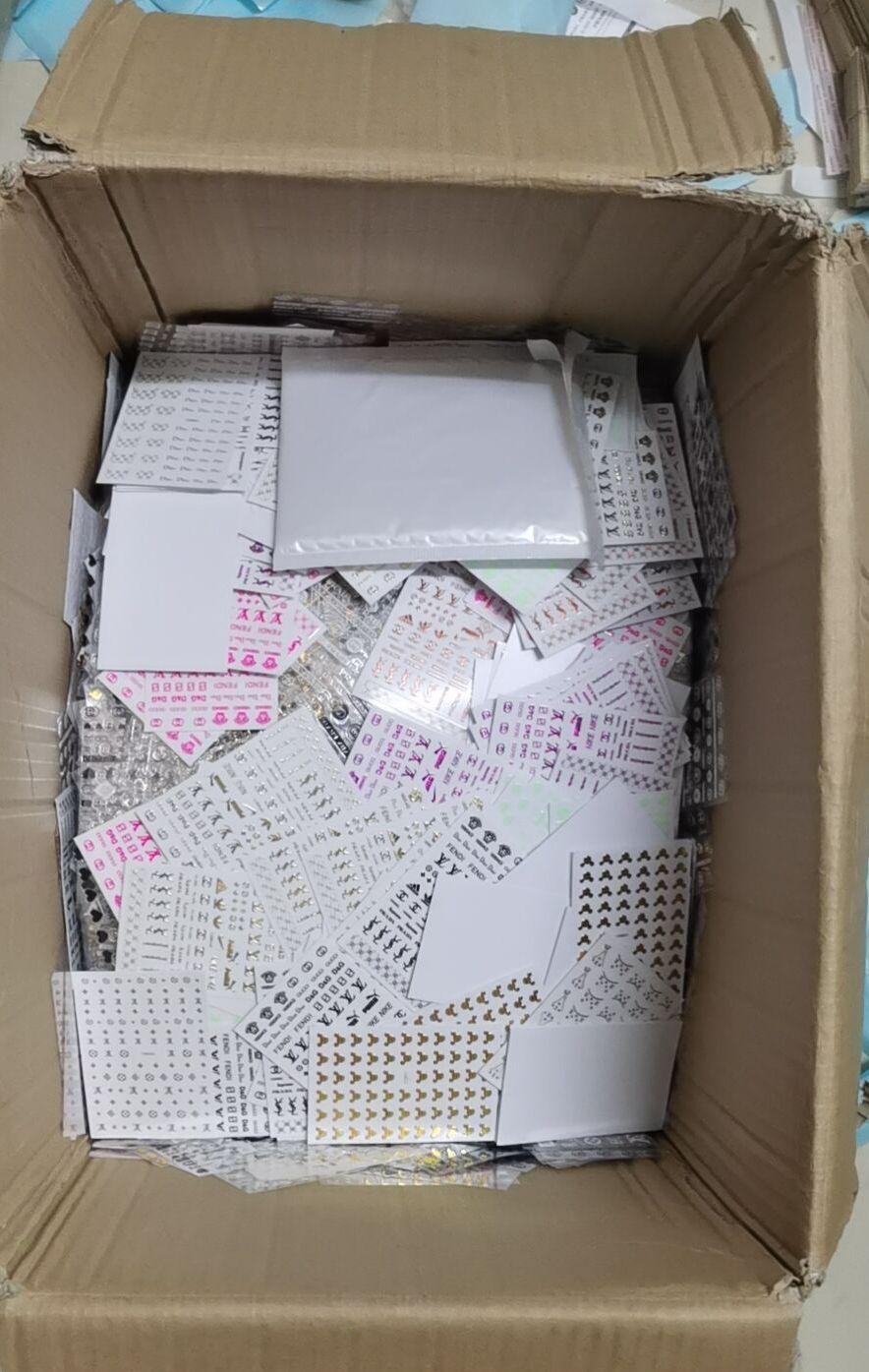 20 листов VDSM серии D красочные наклейки для ногтей с логотипом Стикеры для маникюра наклейки для маникюра художественные украшения