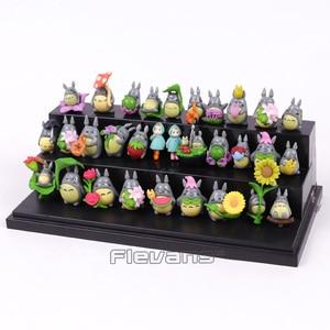 Image 3 - جارتي توتورو Kawaii شخصيات بلاستيكية صغيرة Brinquedo وعاء الديكور دمى اللعب 30 قطعة/المجموعة