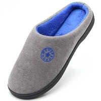 Chaussures hommes Pantoufles maison chaude intérieur Coton Pantoufles doux hommes antidérapant chaussures De sol Couple diapositives pour chambre Pantoufles De Coton