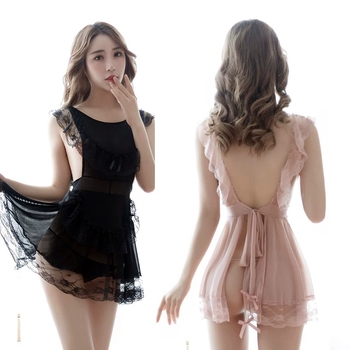 Cosplay French Maid Lingerie for Women Lace Lenceria Sexy Perspective Underwear Servant Classical Erotic Outfit Babydoll lingere cosplay maid uniform lenceria sexy costumes sexy lingerie hot lace perspective babydoll chemise erotic lingerie for women