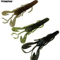 15 piezas 6g 9,5 CM suave Señuelos de Pesca cebos artificiales velocidad Craw criatura garra cebo trucha salmón de pesca atraer Plantilla de remolque