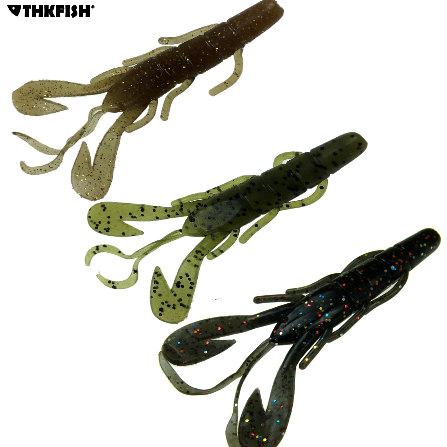 15Pcs 6g 9.5CM Soft Fishing Lures Artificial Baits Speed Craw Creature Claw Bait Trout Salmon Bass Fishing Lure Jig Trailer