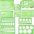 9 штук чертежей шаблонов измерительные геометрические линейки пластиковые черновые линейки для школьных офисных принадлежностей  прозрач...