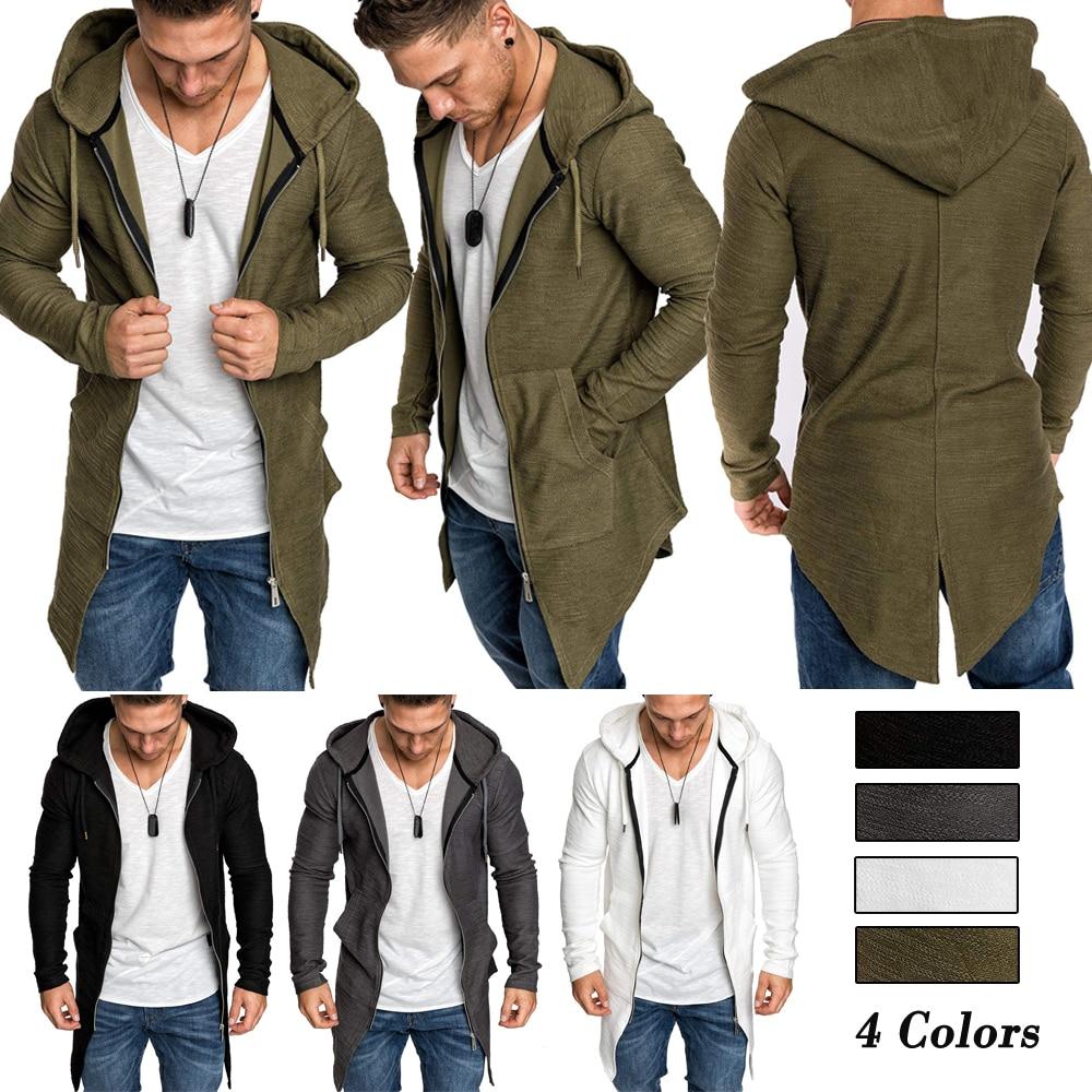 Ha9cf6fa0659c441684ee89ae39b0e9a3k Men's Warm Hooded Coat Outwear Jumper Winter Trench Zipper Long Sleeve Cloak Male Coat Streetwear