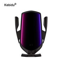 Kebidu 10W voiture chargeur sans fil R2 serrage automatique infrarouge Induction Qi chargeur sans fil voiture support de téléphone pour Samsung iPhone