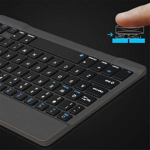 Image 4 - 超スリムロシアスペイン bluetooth ios android タブレット windows ipad 7.9 9.7 空気 10.5 プロ 11 bluetooth キーボード