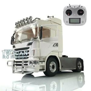LESU 1/14 4*4 Metal Scania Chassis Sound Hercules RC Tractor Truck Radio Lights THZH1003