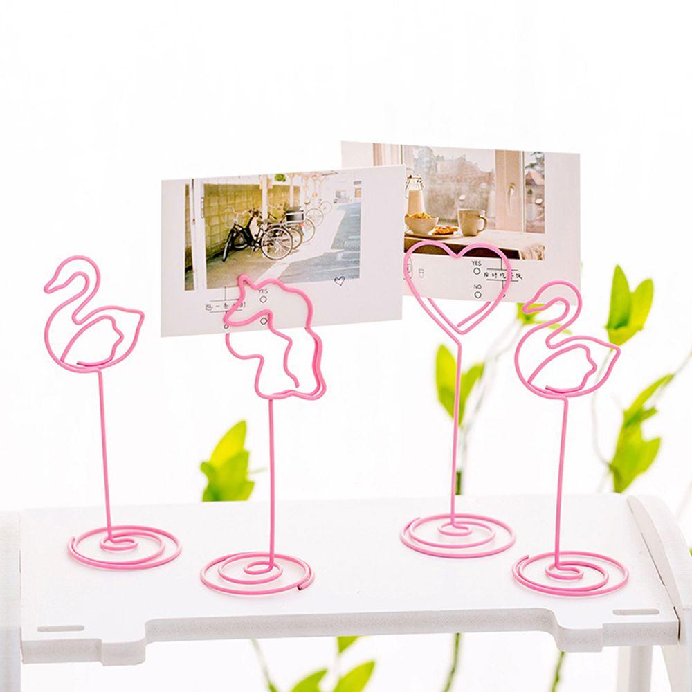1Pcs Cute Desk Notes Folder Unicorn Heart Flamingo Shape Clips Stationery Gifts School Office Supply