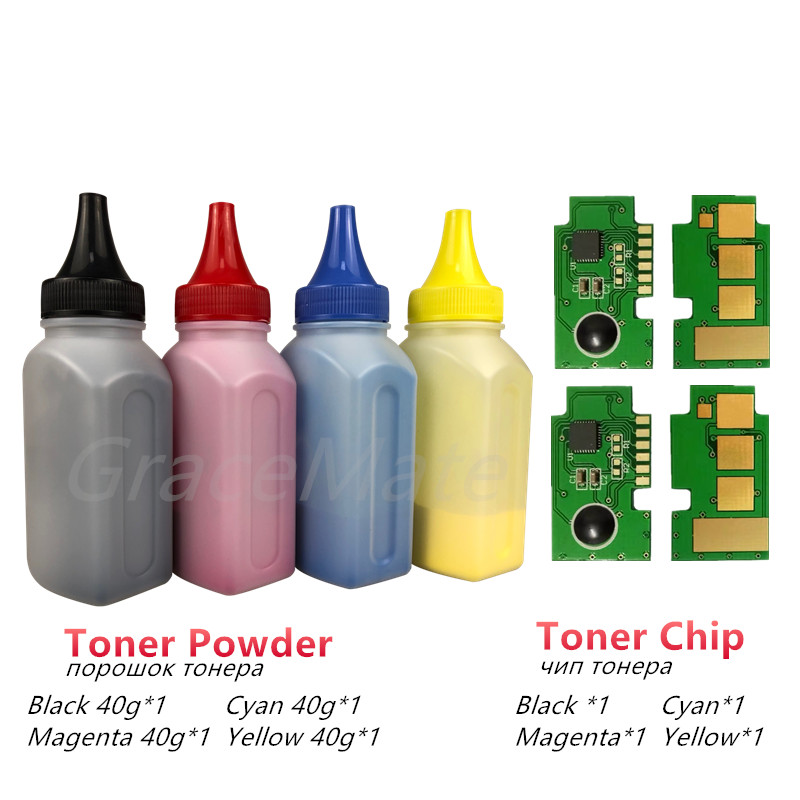 GraceMate 4 X Refill Color Toner Powder + 4chip For Samsung CLT-504s CLT-k504s Xpress C1810w CLP-415nw C1860fw  CLX-4195