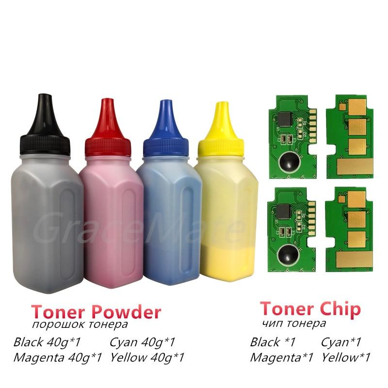 Gracemate 4 X Refill Kleur Toner Poeder + 4 Chip Voor Samsung CLT-504s CLT-k504s Xpress C1810w CLP-415nw C1860fw CLX-4195