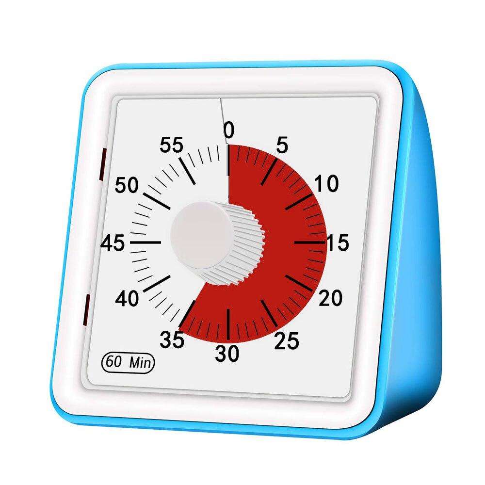 1 шт. 60 минут визуальный аналоговый таймер тихий Обратный отсчет часы управление временем инструмент для детей взрослых Безопасный Прочный