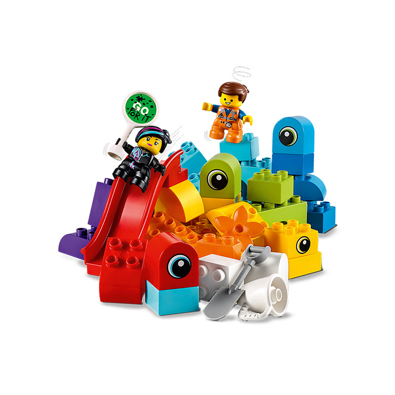 2019 New Products LEGO Duplo Series Large Particles 10895 from Duplo Planet Visitors Building Blocks Toy