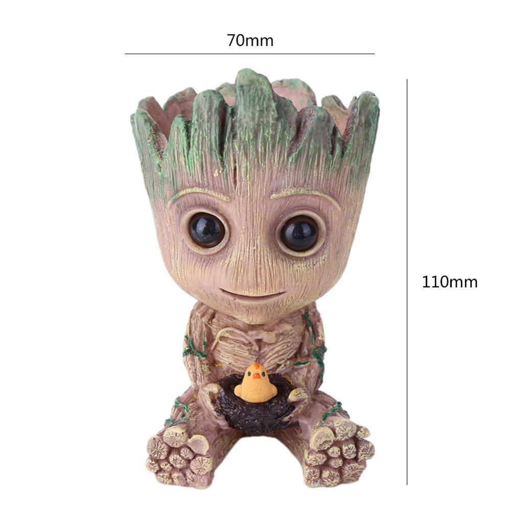 Cute Baby Groot Flower Pot with Small Hole to Drain the Inside Water Suitable for Home Decor 6