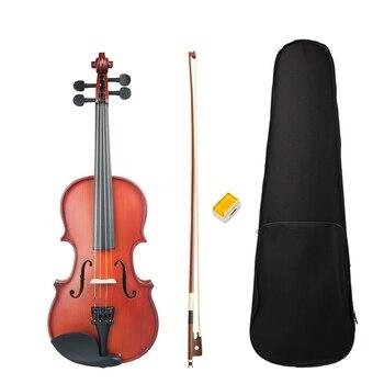 1/4 Violin Scrub Violin Student Violin Set Violin Beginner Natural Color Violin Use