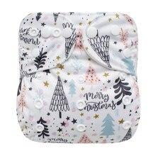 Sigzagor-pañal de tela reutilizable con bolsillo para bebé, ajustable, lavable, mcropolar interno, 3kg-15kg, 8lbs-36lbs
