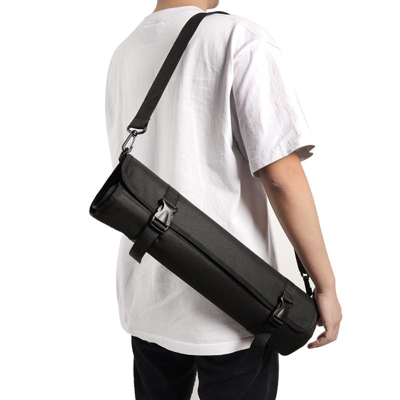 Multifunction 12 Pockets Chef Knife Roll Bag Holder Organizer With Shoulder Strap Portable Chef Knife Storage Bag Kitchen Tools