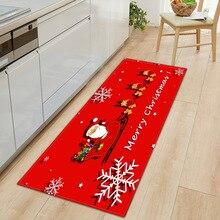 Рождественский стиль 3D печать ковер коврик для прихожей Противоскользящий коврик для ванной комнаты впитывающий воду кухонный коврик/ковер