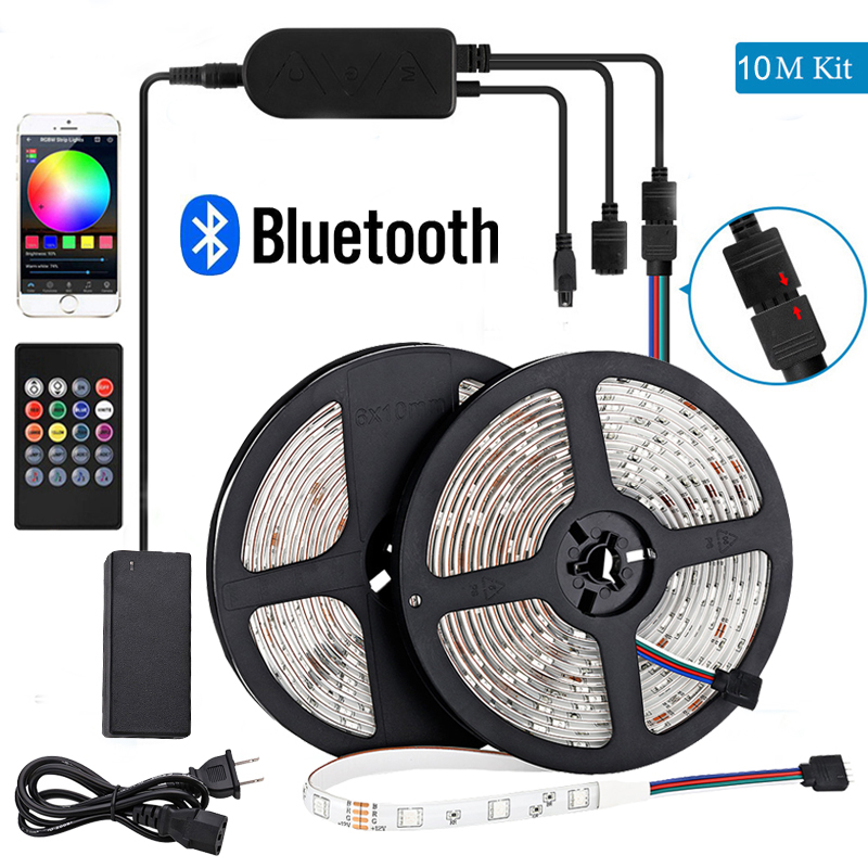 <font><b>led</b></font> <font><b>stripe</b></font> <font><b>led</b></font> lights <font><b>stripe</b></font> bedroom 32ft 20m 10m 15m 5m us plug bluetooth <font><b>led</b></font> strip rgb 12v <font><b>24v</b></font> <font><b>led</b></font> lights for room bluetooth image