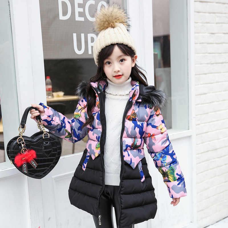 2020 겨울 여자 따뜻한 코트 패션 인조 모피 후드 아이 자 켓 코트 여자 아우터 여자 옷 3-12 년