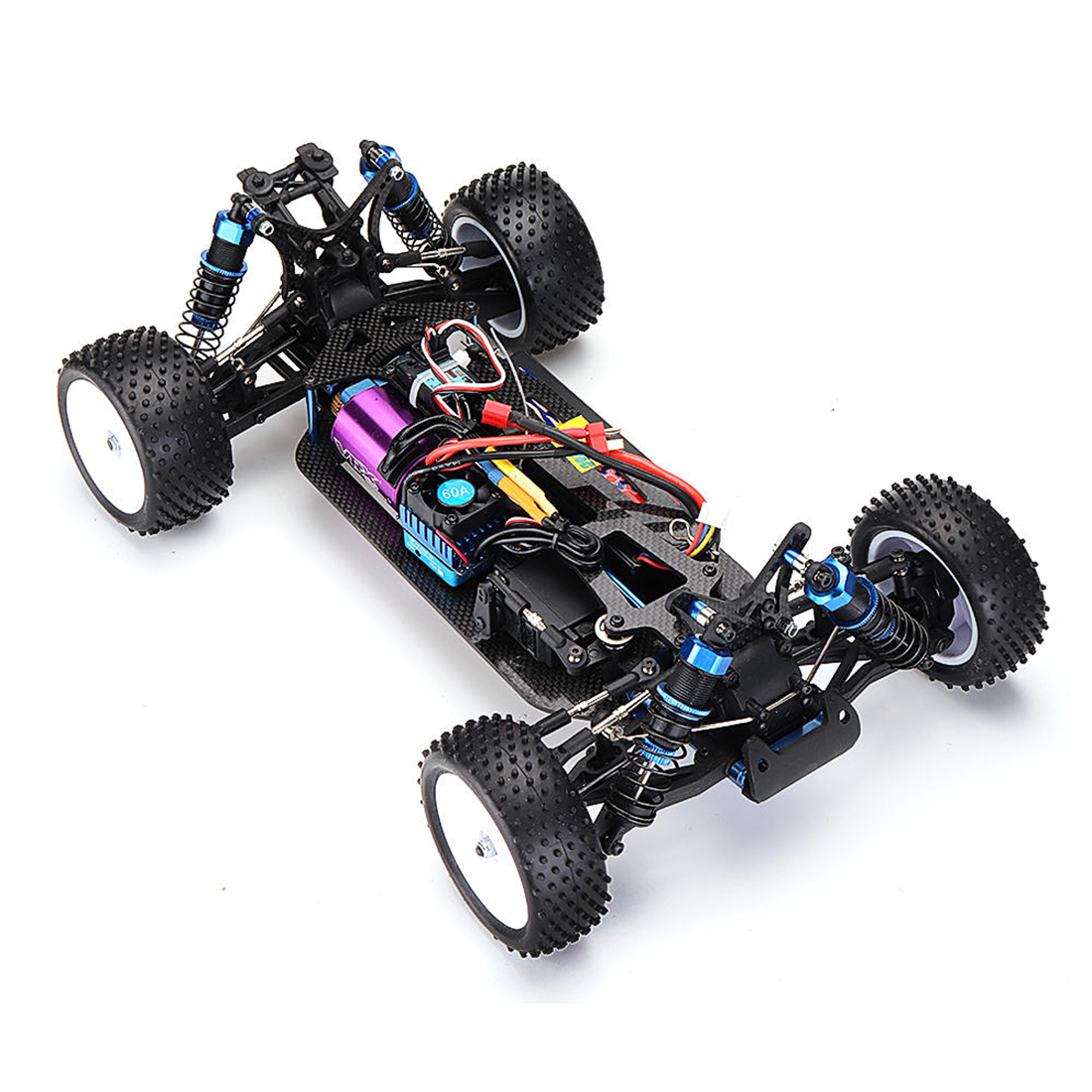 VRX RH1017PR <font><b>1/10</b></font> <font><b>Scale</b></font> 4WD Brushless RTR Off-Road Buggy High Speed 2.4GHz <font><b>RC</b></font> Car(With 60A ESC, 3650 Motor)- R0072 Black Red image
