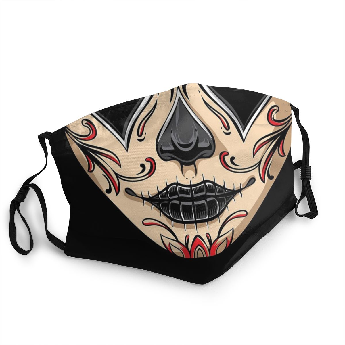 La Catrina Skull Unisex Non-Disposable Mouth Face Mask Anti Haze Dust Protection Cover Respirator