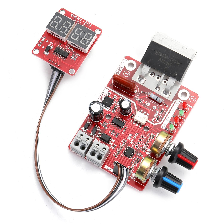 Tools : NY-D01 Battery Spot Welding Machine Set Digital Display Control Board 100A with Spotwelding Pen 9V Transformer Metal Foot Pedal
