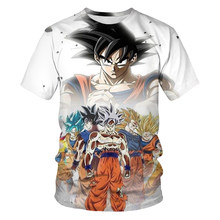 2021 New Dragon Ball Theme Top Fashion Cartoon Anime Cool Men's T-shirt Male Anime 3dt Shirt Boy Street Summer Clothing