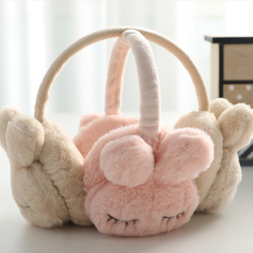 Cute Winter Warm Earmuff For Girls Unisex Plush Warm Rabbit Earcap Children Lovely Winter Earmuffs Ear Cover Earwarmers 2020