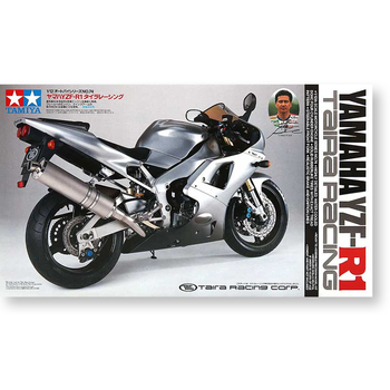 Tamiya 14074 1/12 Scale Yamaha YZF-R1 Taira Racing Motorcycle Display Collectible Toy Plastic Assembly Building Model Kit