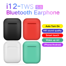 i12 TWS Mini Wireless 5.0 Earphones Bluetooth Headphones Sport Earbuds Stereo So