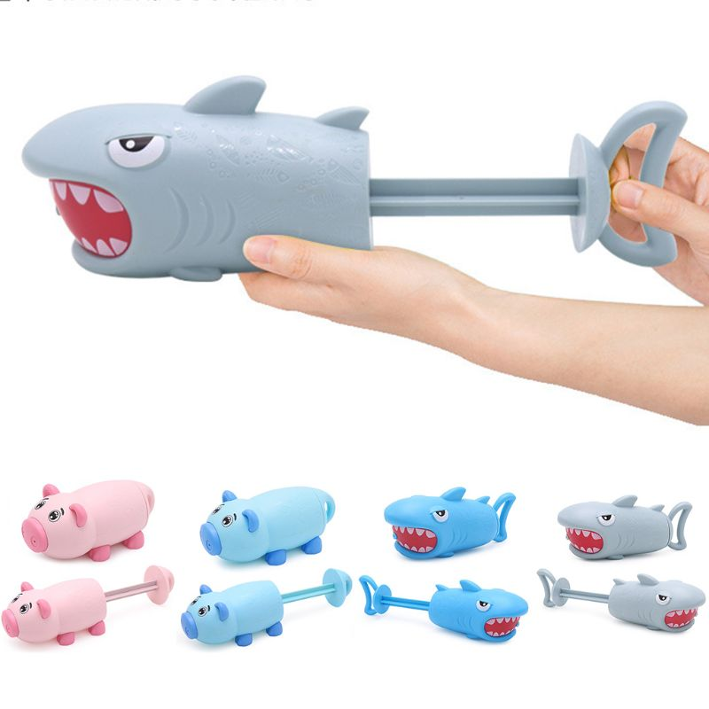 Cartoon Pig Shark Shape Mini Pump Children Beach Swimming Pool Toy Water Gun Girls Boys Gifts