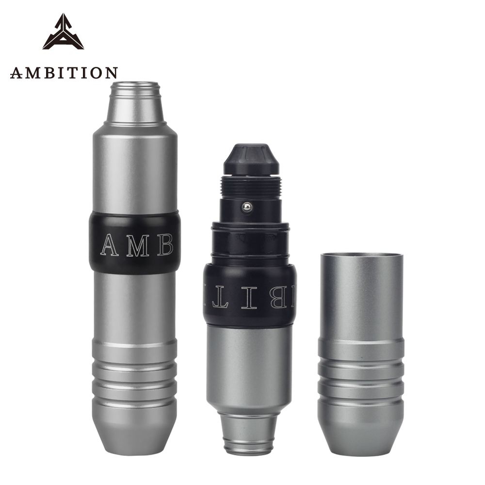 Ambition Rotary Tattoo Pen Machine With Swiss Motor Strong Hit Quiet Low Vibrates For Tattooing Lining And Shading Gun Supply