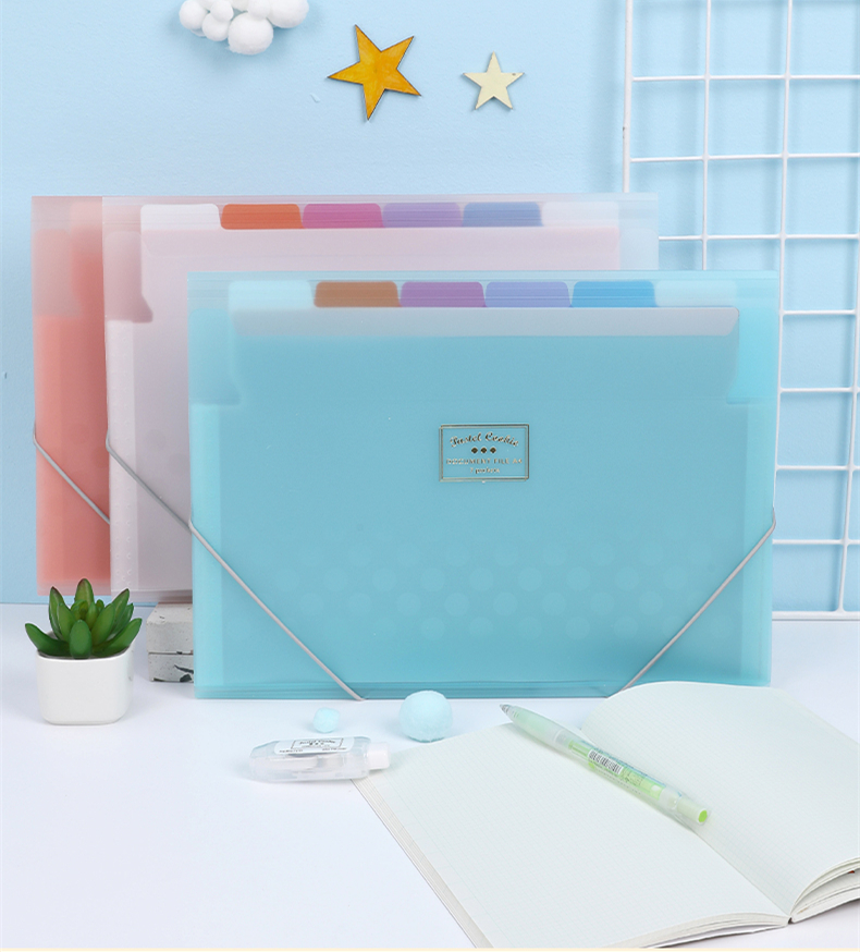 1 Pc KOKUYO WSG-DFC70 Pastel Cookie Series Thin Simple Design Expanding Wallet Document Bag Multi-layer Storage Stationery