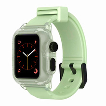 Waterproof strap for apple Watch 5 band 44mm 40m iWatch band 42mm Full Protector case+Luminous bracelet for apple watch 3 4 38mm